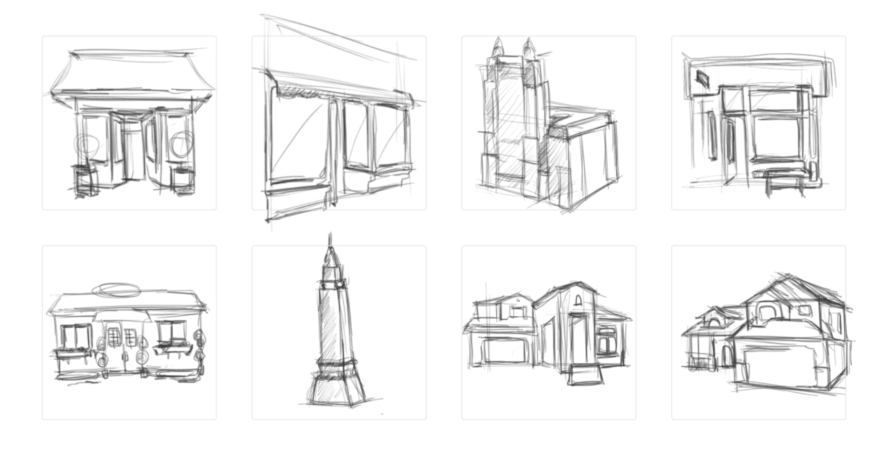 Growing Urban illustration project early sketches
